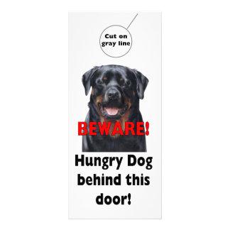 BEWARE Door hanger Warning sign Dog Pet sign Rack Card
