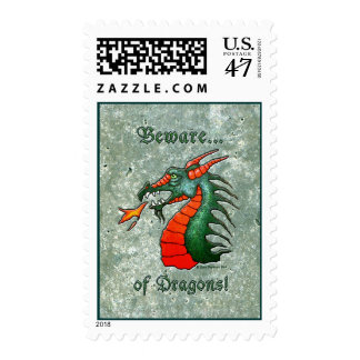 Beware Dragons Postage