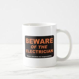 Beware / Electrician Classic White Coffee Mug