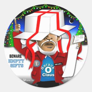 Beware Empty Gifts Classic Round Sticker