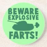 Beware EXPLOSIVE FARTS! Beverage Coaster