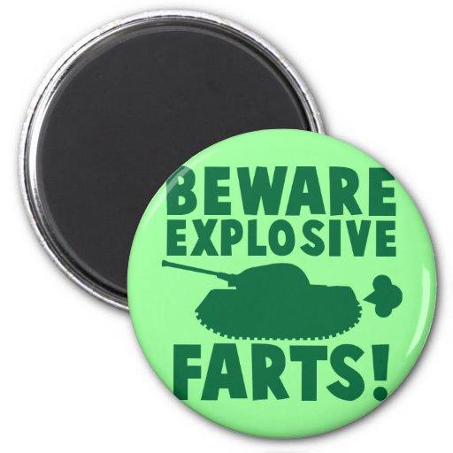 Beware EXPLOSIVE FARTS! Fridge Magnets