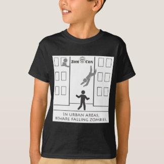Beware Falling Zombies T-Shirt