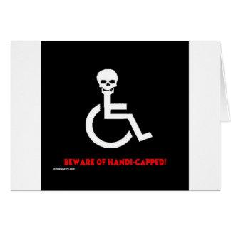 Beware Greeting Card
