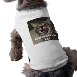 Beware Guard Cat funny photo  dog shirt