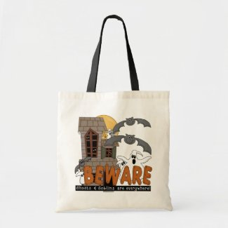Beware Halloween Trick Or Treat Bag