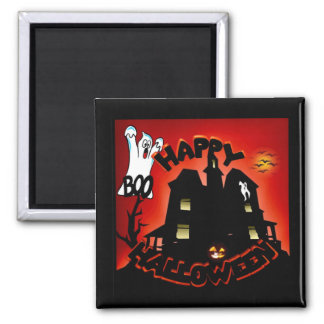 Beware! Haunted House - Enter at Your Own Risk! 2 Inch Square Magnet