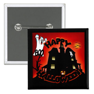 Beware! Haunted House - Enter at Your Own Risk! Pinback Button