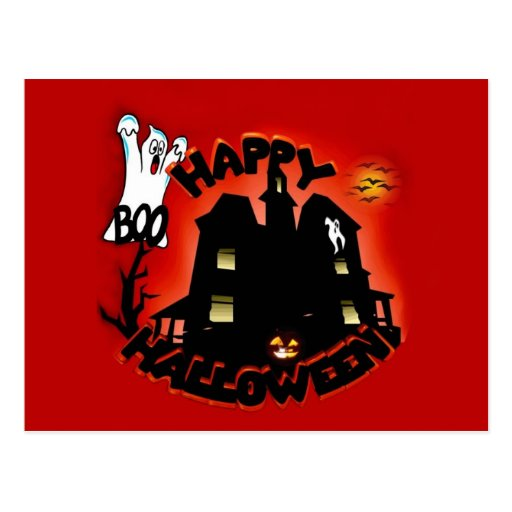 Beware! Haunted House - Enter at Your Own Risk! Postcard