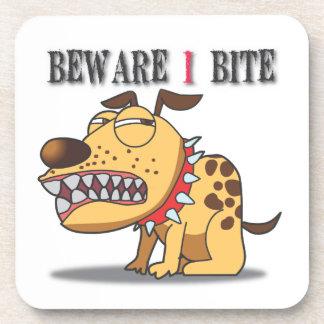 Beware I Bite Coaster