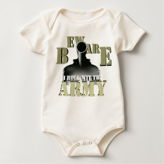 Beware!!! I Roll Wit The Army Infant Creeper