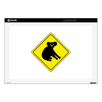 Beware Koalas, Traffic Warning Sign, Australia Laptop Skins