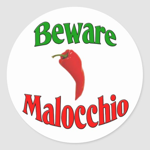 Beware Malocchio (Evil Eye) Stickers