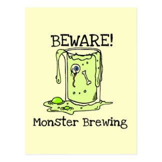 Beware Monster Brewing Tshirts and Gifts Postcard