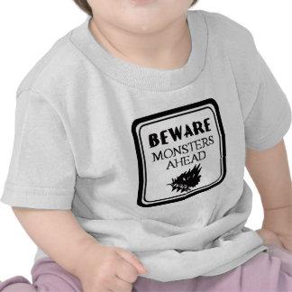 Beware Monsters Tees