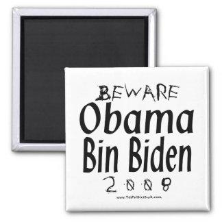 Beware Obama Bin Biden 2 Inch Square Magnet