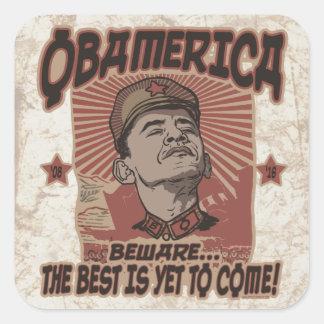Beware Obama's Obamerica Square Sticker