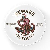 Beware Octopus Nautical Creature Tentacle Monster Paperweight