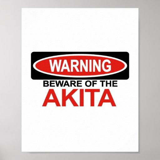 Beware Of Akita Poster