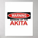 Beware Of Akita Print