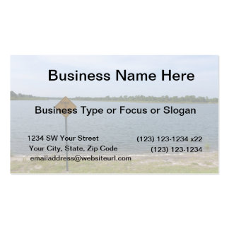 Beware of Alligator Sign by pond Business Card