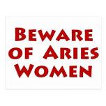 Beware of Aries Postcard