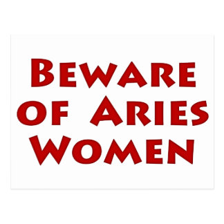 Beware of Aries Postcard
