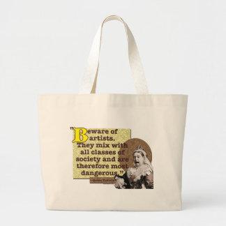 Beware of Artists I Large Tote Bag