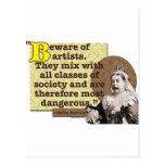 Beware of Artists I Postcard