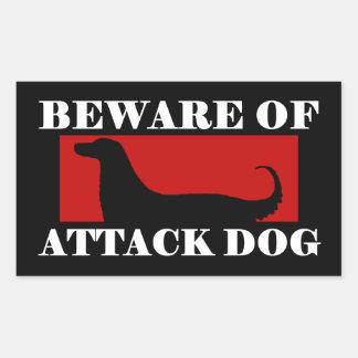 Beware of Attack Dog - Afghan Hound Round Stickers