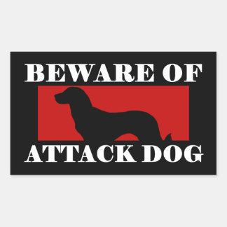 Beware of Attack Dog - Anatolian Shepherd Dog Rectangular Sticker