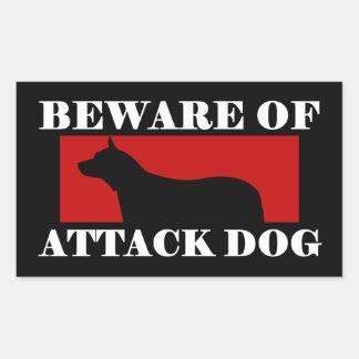 Beware of Attack Dog - Australian Cattle Dog Rectangular Sticker
