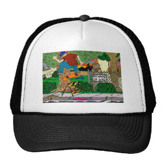Beware of Backside Flip Trucker Hat