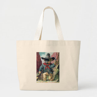 Beware of Bandit Bear with Bandana Canvas Bags