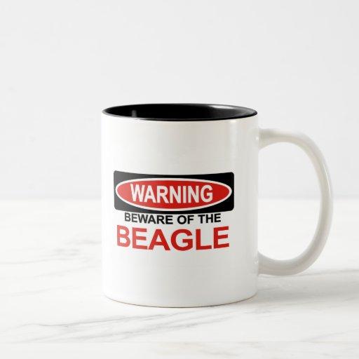 Beware Of Beagle Two-Tone Coffee Mug