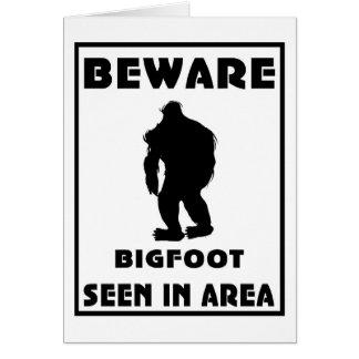 Beware of BigFoot Poster Card