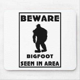 Beware of BigFoot Poster Mouse Pad