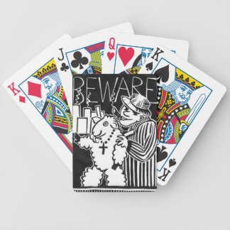 Beware of Capitalists in Sheep's Clothing Bicycle Playing Cards