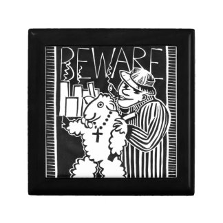 Beware of Capitalists in Sheep's Clothing Trinket Box