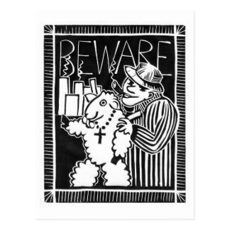 Beware of Capitalists in Sheep's Clothing Postcard
