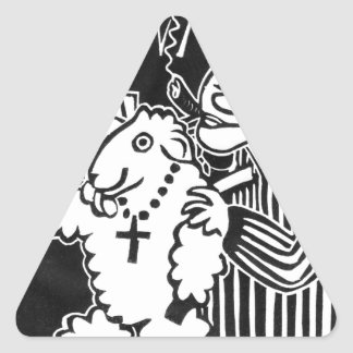 Beware of Capitalists in Sheep's Clothing Triangle Sticker
