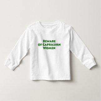 Beware of Capricorn Women Toddler T-shirt