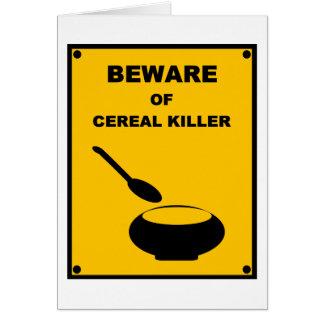 Beware of Cereal Killer Spoof Warning Sign Cards