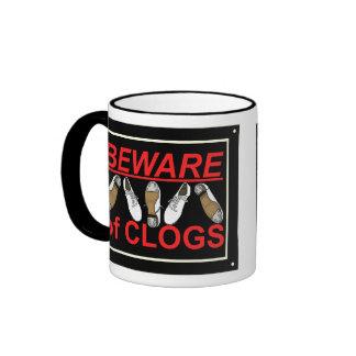 Beware of Clogs Dance Design Ringer Mug