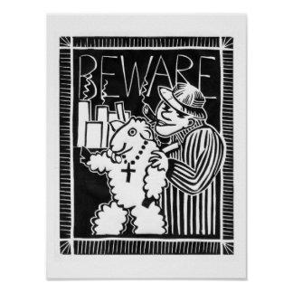 Beware of Corporations in Sheep's Clothing Poster