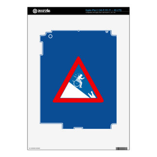 Beware of Crocodiles, Sign, South Africa Skin For iPad 3