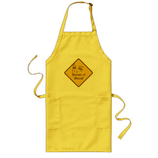 Beware of decaf long apron
