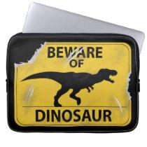 Beware of Dinosaur (damaged) Computer Sleeve