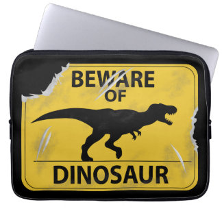 Beware of Dinosaur (damaged) Computer Sleeve