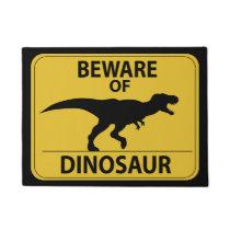 Beware of Dinosaur Doormat